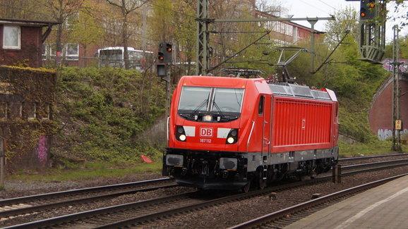 DB BR 187 112 te Hamburg Harburg naar Maschen GBF