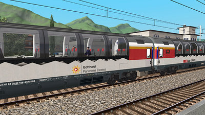 Simtrain Gotthard Panorama Express route