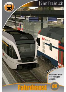 Simtrain FahrDienst 6 Unterwegs mit KISS und THURBO am Walensee und Rhein