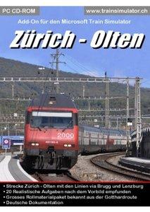Simtrain Route Zurich - Olten