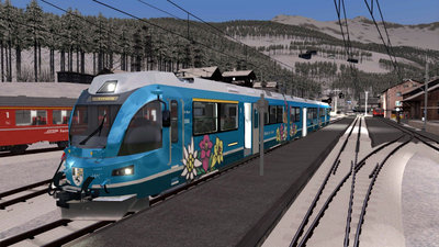 Simtrain Blue Allegra Train TS 2018
