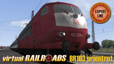 vR-DB BR 103 OrientLange + Interregio 80er Jahre